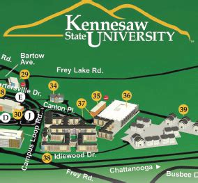Kennesaw State University Map by Universityparent Guide To Kennesaw State University Maps