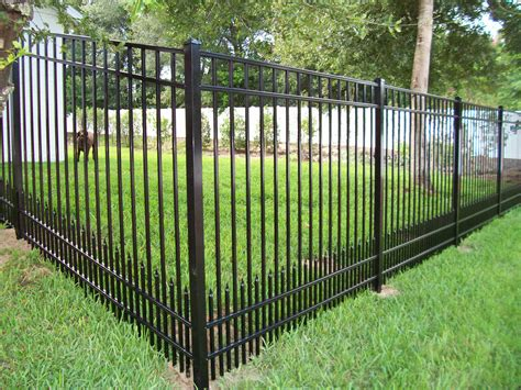 pictures of fences aluminum fence