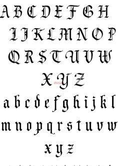 tattoo font generator gothic calligraphy basic gothic hand art work pinterest