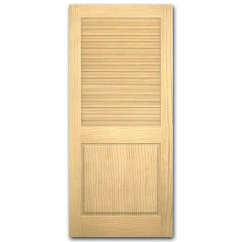 Interior Louvered Doors Lowes Shop Reliabilt Louver Panel Pine Slab Interior Door Common 24 In X 80 In Actual 24 In X 80