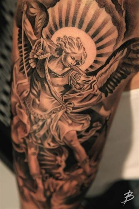 arcangel tattoos 8 powerful protective archangel michael tattoos