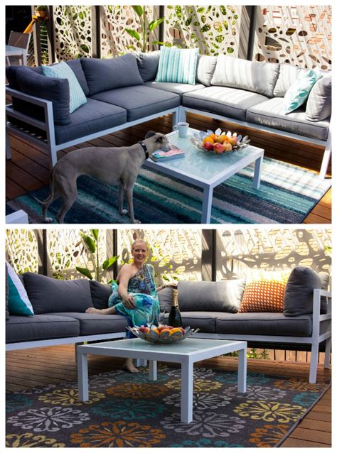 carpet court outdoor rugs get a peek at my new outdoor living space inside out style