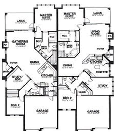 multi family plan 52425 at familyhomeplans com duplex mobile home floor plans home manufactured