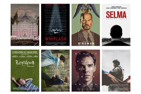 film nominated for oscar 2015 ranking the 2015 oscar nominations for best picture