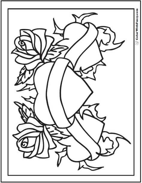 hearts and roses coloring pages printable 73 rose coloring pages customize pdf printables