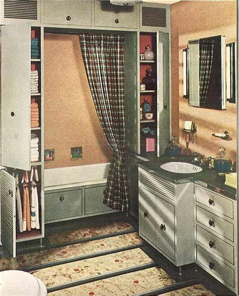 grey and peach bathroom 1940s decor 32 pages of designs and ideas from 1944