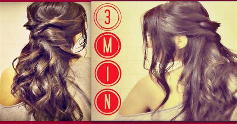 3 easy everyday ponytail hairstyles for medium to long 3 min easy quick everyday hairstyles half up with curls