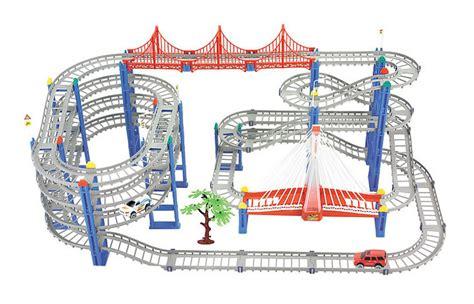 Terbaru Mainan Roller Coaster Cars 1 Venta Caliente 3d De Cuatro Capas Espiral De La Pista De
