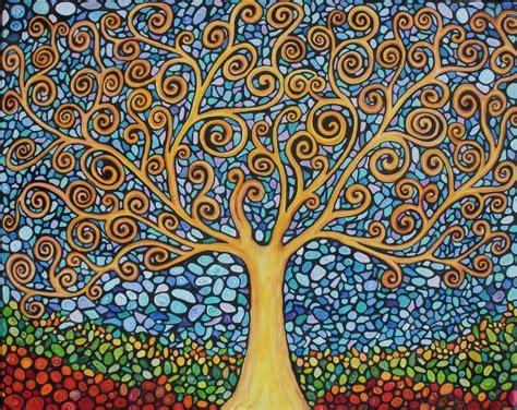 mosaic pattern meaning klimt tree of life mosaic style trees pinterest