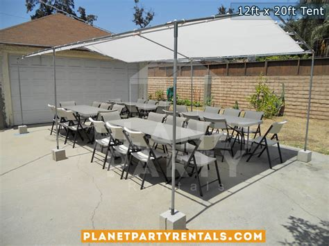 table and chair rentals san fernando valley tent 12ft x 20ft price and pictures