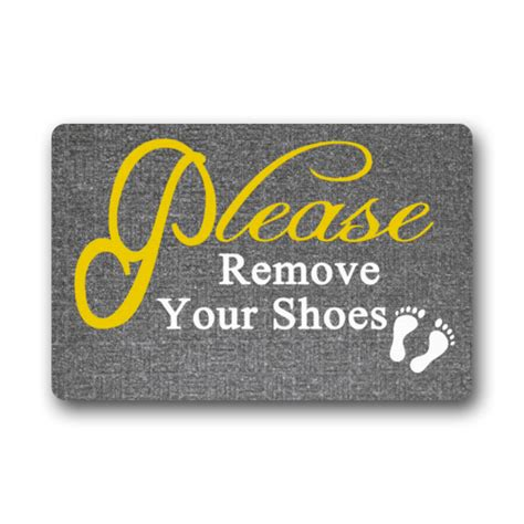 Remove Your Shoes Doormat - memory home remove your shoes non slip doormat gate