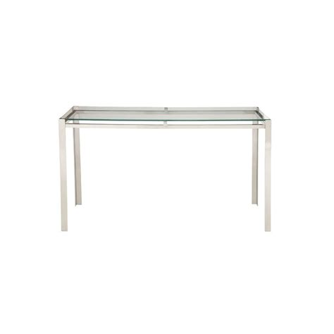 clear glass console table clear glass and silver modern console table 90826 the