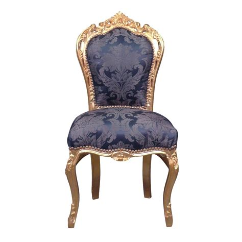 chaises baroques chaise baroque bleue style rococo
