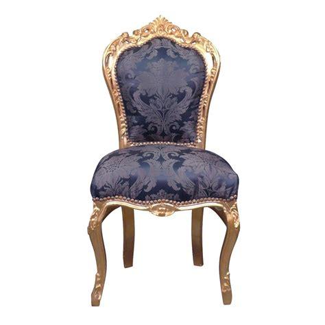 chaise baroque bleue style rococo
