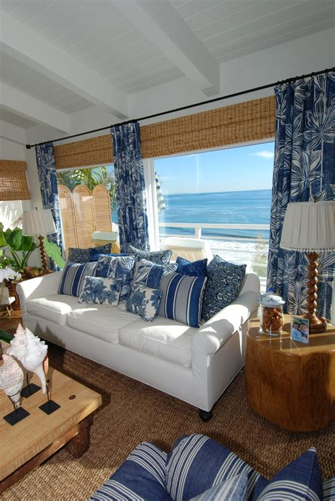 beach house living room everything coastal sea blue and white always a