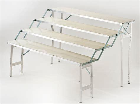 tavoli pieghevoli in alluminio banchi per mercato brescia attrezzature tavoli