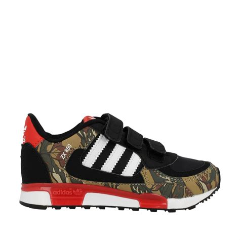 new adidas zx 850 boys sports black patterned casual trainers shoes size 10 2 uk ebay