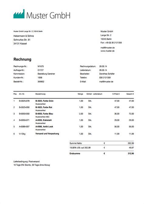 Muster Rechnungsvorlagen Rechnungsvorlage Word Rechnungsmuster I Weclapp