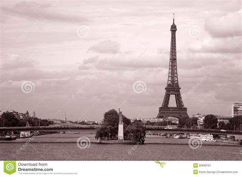 thames river in france eiffel tower and river seine paris stock image image