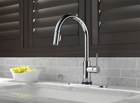 delta 9159t single handle pull down kitchen faucet with delta 9159t dst trinsic single handle pull down kitchen