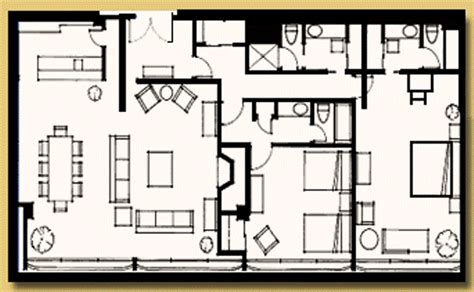 Disneyland Hotel 3 Bedroom Suite Floor Plan - disneyland hotel 1 bedroom suite floor plan www