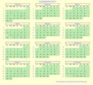 Calendario Italiano Calendario Italiano 2017