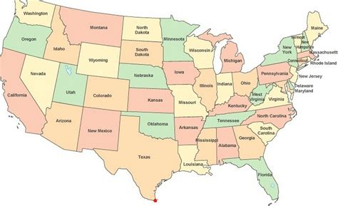 show me the map of united states of america brownsville the southern most point in ramblin