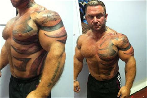lee priest tattoos priest tattooes bnn mustache