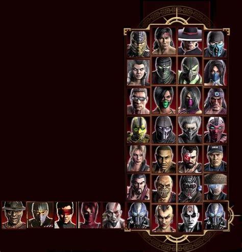 xbox 360 exclusive character for mortal kombat 9 mortal kombat 9 character screen with dlc characters other mortal
