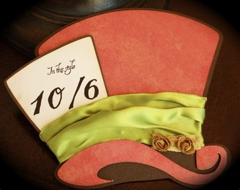 mad hatter hat card template 1000 images about themed weddings in