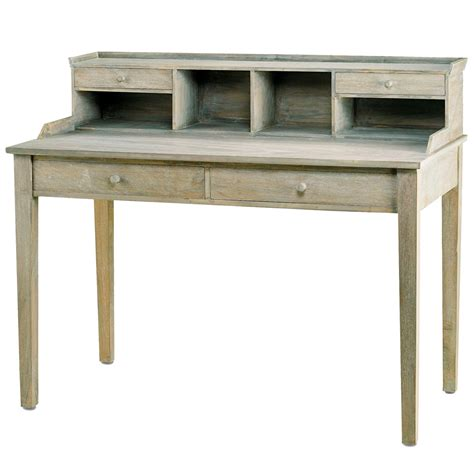 washed wood writing desk shaker design