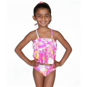 Hula star pink purple retro floral tankini swimsuit toddler girl 2t 4t