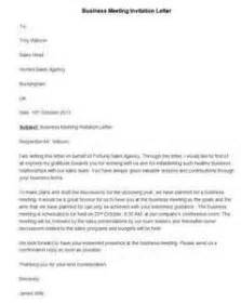 business letter sle for meeting request cover letter