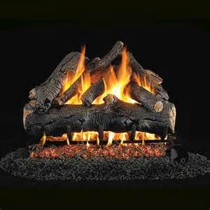 Gas Logs 18 Peterson Real Fyre Vented American Oak Gas Logs