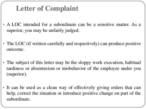 Complaint Letter Of Subordinate To Letters 2 Staff