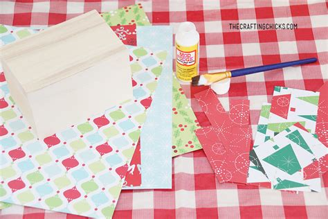 Crafting Recipe For Paper - diy cookie exchange recipe box