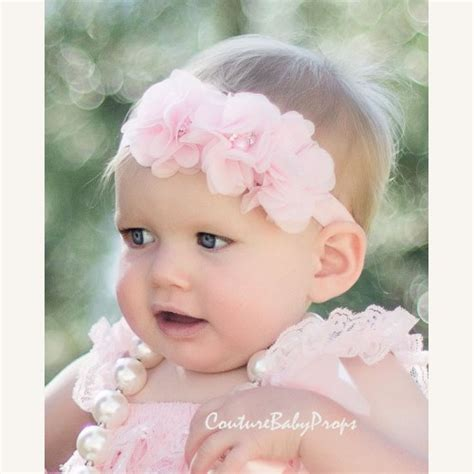 baby with headbands 52 images 12 beautiful baby light pink baby headband newborn headband flower