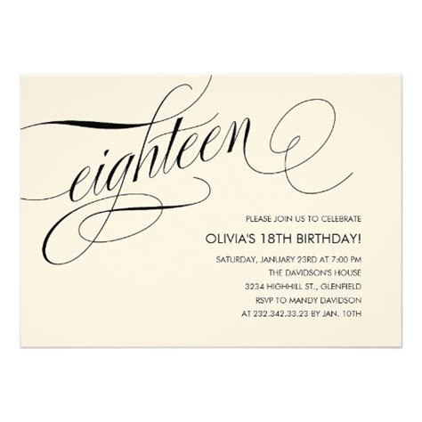 free 18th birthday invitation templates personalized 18th birthday templates invitations