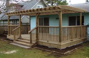 Decks With Pergolas by Deck With Pergola Flowers And Yard Pinterest