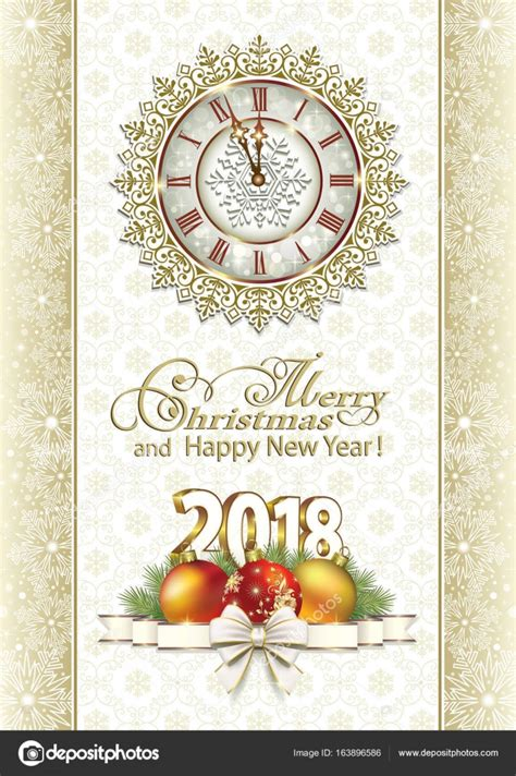 new year postcard postcard new year 2018 stock vector 169 seriga 163896586
