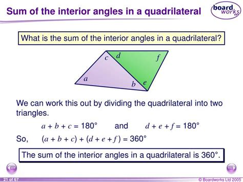 Interior Angles Of A Parallelogram by Ppt Part 3 Angle Relationships Powerpoint Presentation