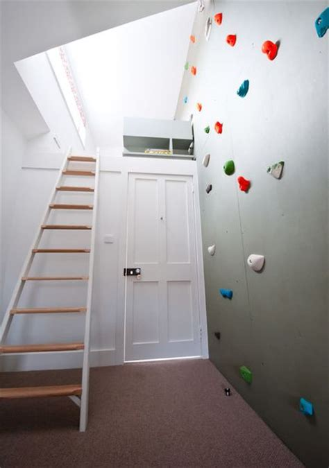 modern homes featuring a rock climbing wall