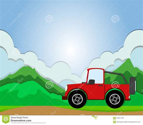 jeep illustration jeep on the road stock vector image of clip truck