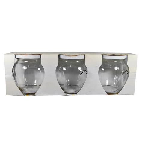 vasi di vetro per conserve tris vasi milleusi vari dimensioni 3 pz vetro trasparente