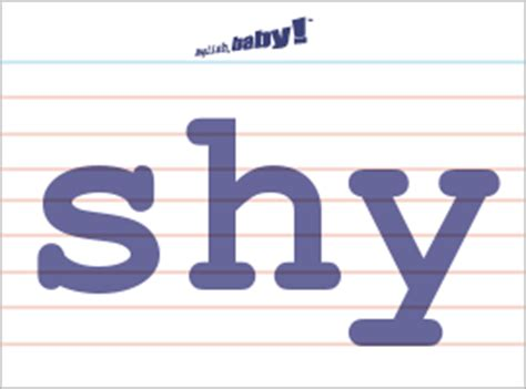 "what does ""shy"" mean? 