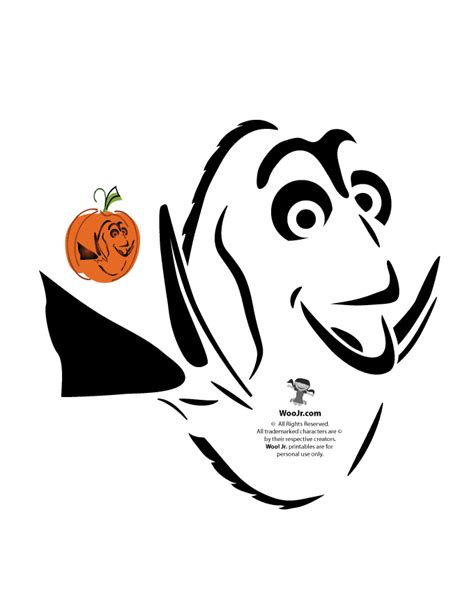 disney pumpkin carving templates free finding dory pumpkin stencil