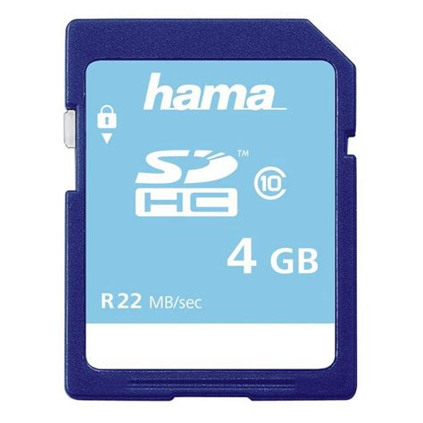 V Sdhc 4gb Class6 Memory Card Speed 25mbs Sd Card Original hama speicherkarte sdhc 4gb class 10 187 geeignet f 252 r hd