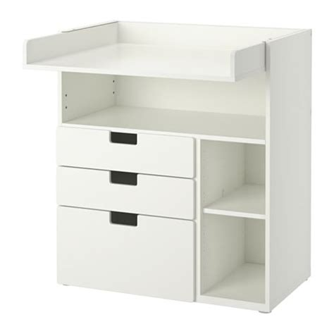 white changing table with drawers stuva changing table with 3 drawers white 90x79x102 cm ikea