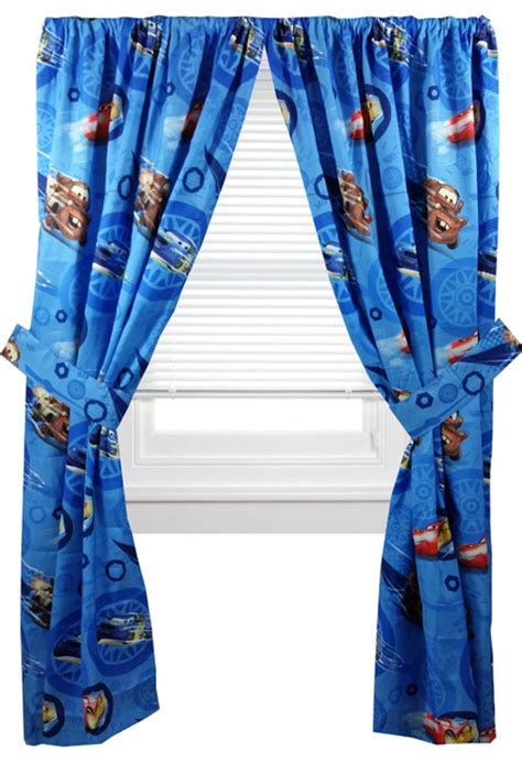 cars curtain disney cars curtain set lighting mcqueen city limit drapes