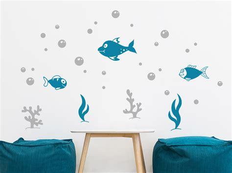 Wandtattoos Kinderzimmer Fische Meereswelt by Wandtattoo Fische Reuniecollegenoetsele